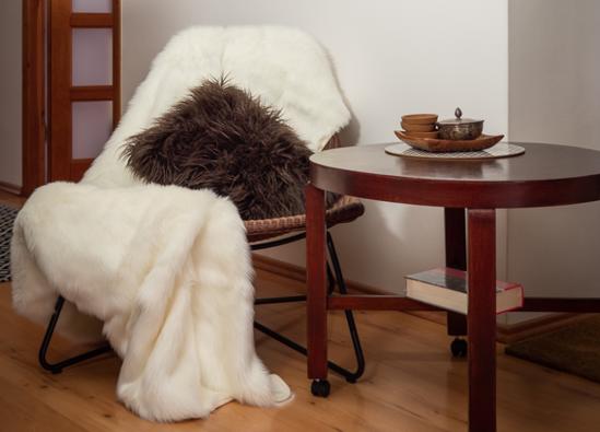 Decorative bedspread ANGELO ecru 155x200 cm
