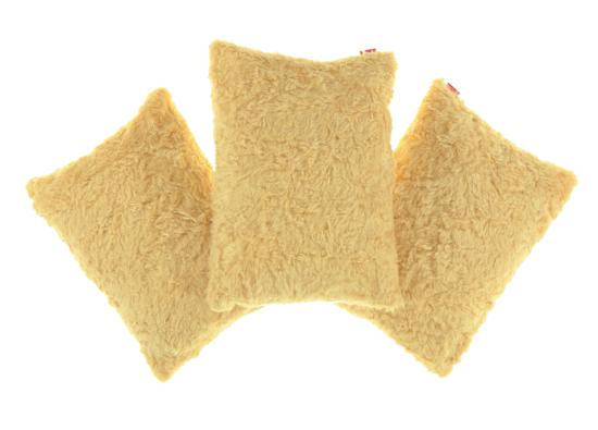 Faux Fur Pillow ASTER beige 40x50 cm
