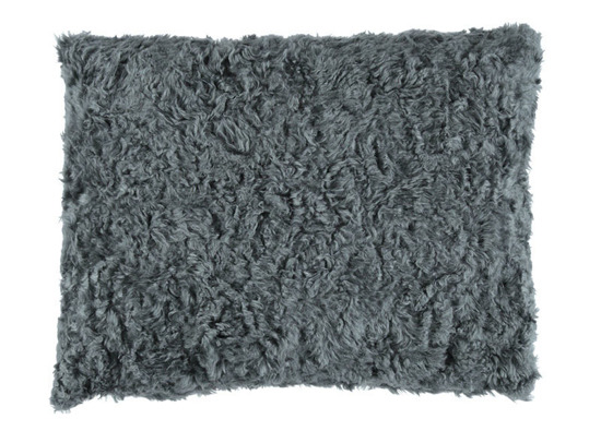 Faux fur pillow ASTER grey 40x50 cm