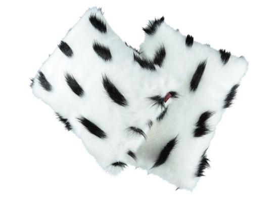 Faux fur pillow ERMINE white 40x50 cm