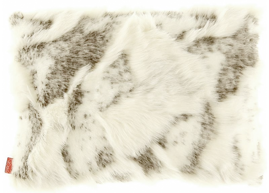 Faux fur pillow GOAT beige 40x50 cm
