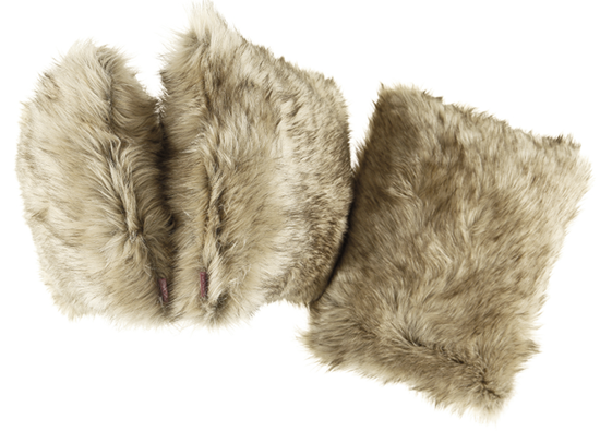 Faux fur pillow GRANDE PINI beige 40x50 cm