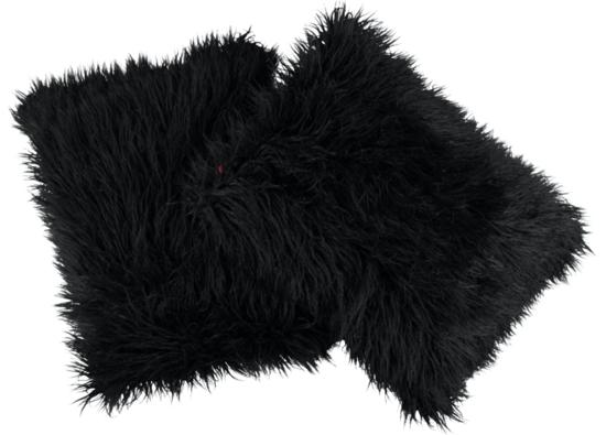 Faux fur pillow LUMA black 40x50 cm