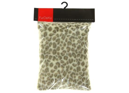 Faux fur pillow OCELOT beige 40x50 cm