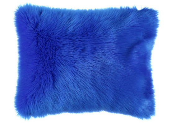 Faux fur pillow SHAGGY blue 40x50 cm