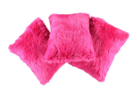 Faux fur pillow SHAGGY pink 40x50 cm