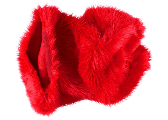 Faux fur pillow SHAGGY red 40x50 cm