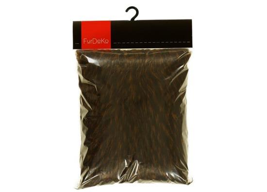 Faux fur pillow TANUKI brown 40x50 cm