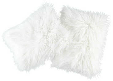 Faux fur pillow LUMA white 40x50 cm