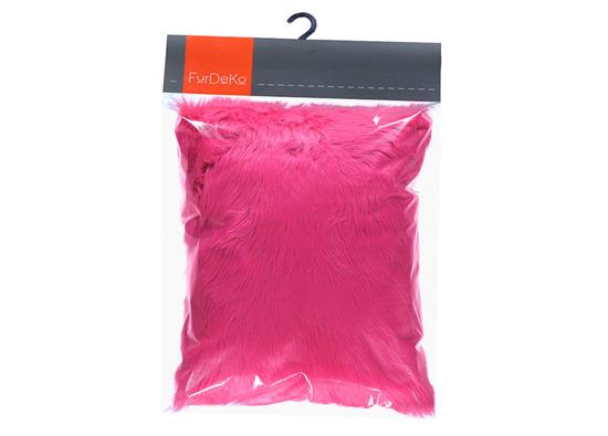 Futrzana poduszka dekoracyjna CZUPER różowy 40x50 cm