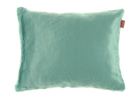 Futrzana poduszka dekoracyjna MINK turkusowy 40x50 cm