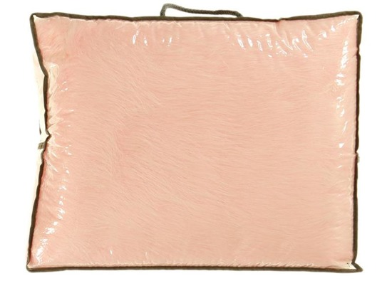 Koc, narzuta na łóżko, kanapę LISEK różowy 140x200 cm