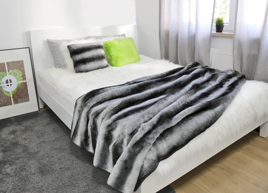 Decorative Faux Fur Set, Bedspread ROYAL CHINCHILLA