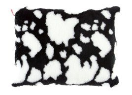 Decorative faux fur pillow COW
