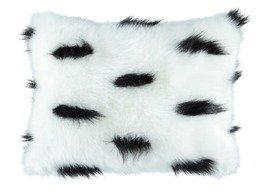 Decorative faux fur pillow ERMINE
