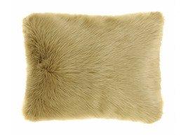 Decorative faux fur pillow KARAKUM