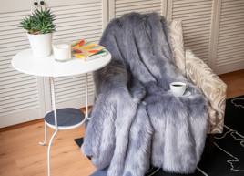 Decorative faux fur set MARENGO