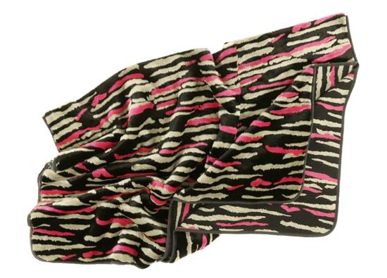 Decorative Faux Fur Set, bedspread NIGHT WAVES