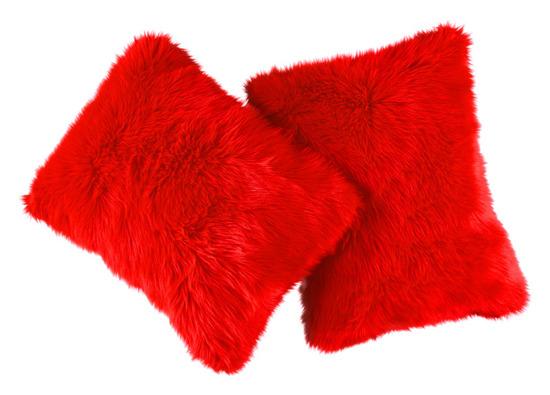 Decorative faux fur set FIRE JAZZ