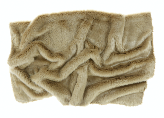 Decorative faux fur bedspread KARAKUM