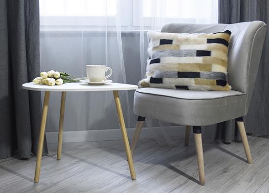 Faux fur pillow EGYPTIAN BEAUTY beige 40x50 cm