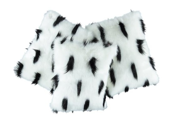Decorative faux fur pillow ERMINE