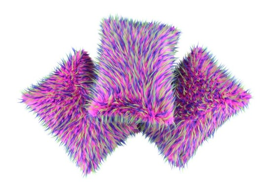 Faux fur pillow HEDGEHOG pink 40x50 cm