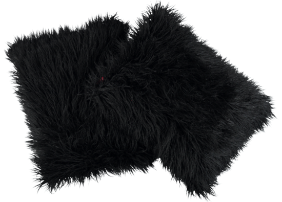 Faux fur pillow LUMA black 40x50 cm