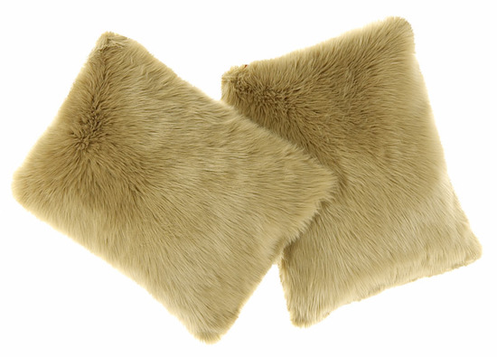 Decorative faux fur pillow KARAKUM