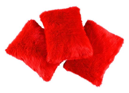 Decorative faux fur pillow FIRE JAZZ