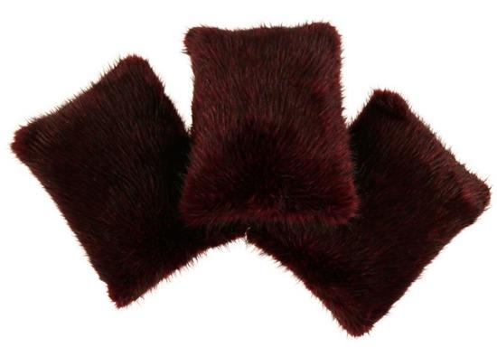 Decorative faux fur pillow TANUKI