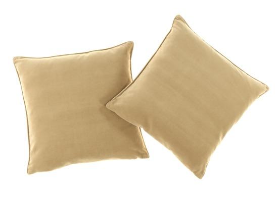 VELVET PILLOW beige 45x45 cm
