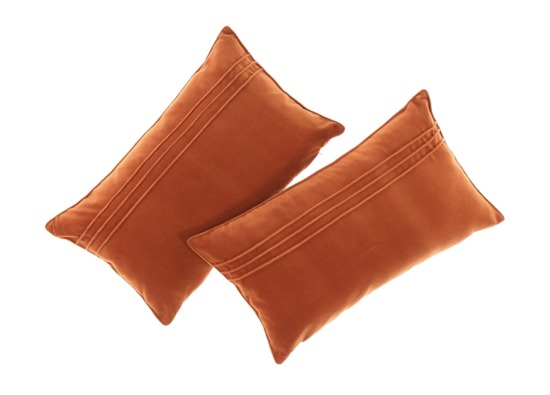 Velvet pillow JULIA ginger 30x50 cm