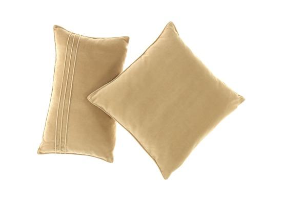Velvet pillow ROMEO beige 45x45 cm