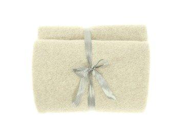 Decorative bedspread, blanket  LOOP beige 45x45 cm