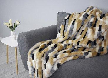 Decorative faux fur bedspread EGYPTIAN BEAUTY