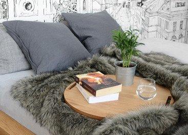 Decorative faux fur bedspread GRANDE PINI