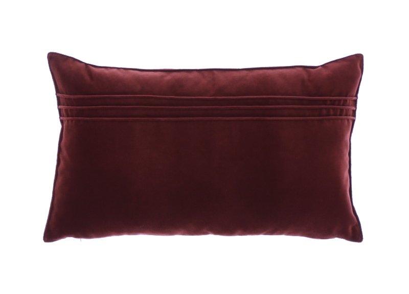 Poduszka Z Aksamitu Julia Bordowy 30x50 Cm