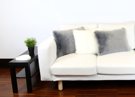 Poduszka dekoracyjna z futra MARENGO