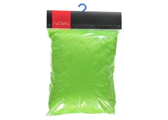 Futrzana poduszka dekoracyjna CZUPER zielony 40x50 cm