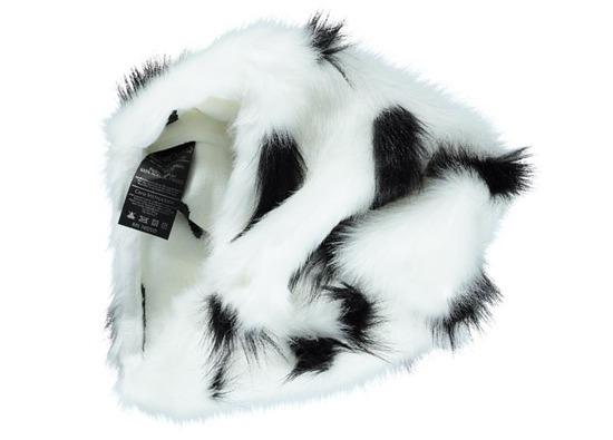Futrzana poduszka dekoracyjna GRONO biały 40x50 cm