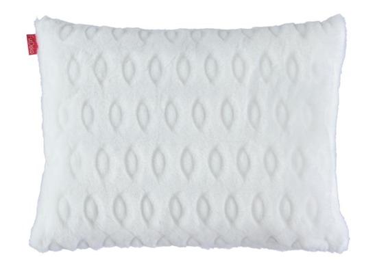 Futrzana poduszka dekoracyjna KÓŁKA biały 40x50 cm