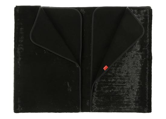 Koc, narzuta CZARNA PANTERA czarny 160x200 cm