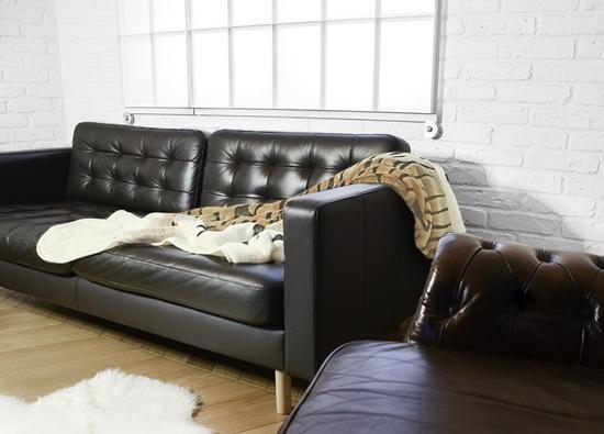Koc, narzuta TYGRYS ecru, brązowy, czarny 145x190 cm