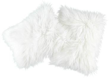 Futrzana poduszka dekoracyjna LUMA biały 40x50 cm